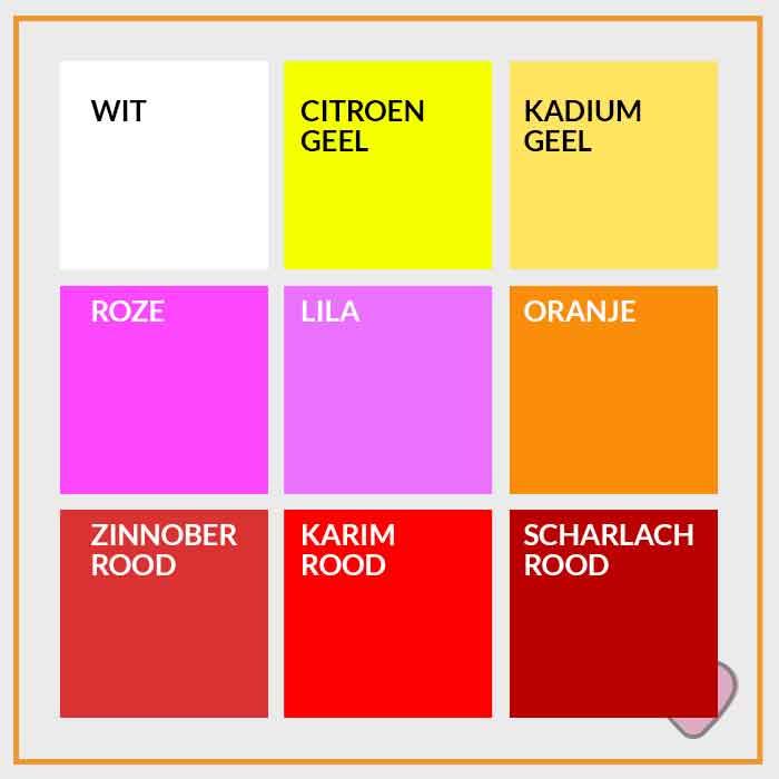 Acrylverf in verscheide kleuren bestel je bij knutsel en for Kleuren verf kiezen
