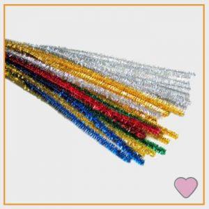 Glitterend Chenille draad