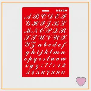 Sierlijk letters Sjabloon