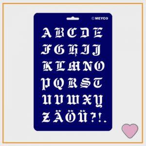 Gotisch Letter Sjabloon